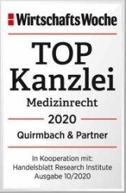 TOP-Kanzlei Medizinrecht 2020, Quirmbach & Partner
