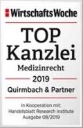 TOPKanzlei Medizinrecht 2019 Quirmbach & Partner