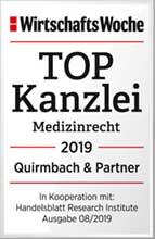 Quirmbach & Partner, TOP Kanzlei Medizinrecht