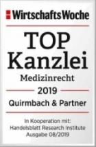 Quirmbach & Partner: Top-Kanzlei für Medizinrecht 2019