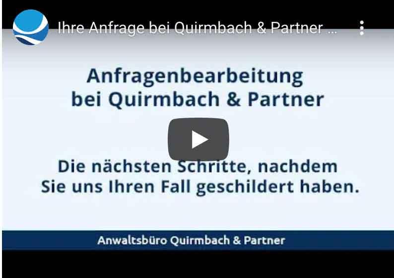 Anfragenbearbeitung bei Quirmbach & Partner - Erklärvideo