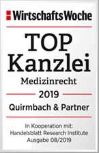 TOP Kanzlei Medizinrecht 2019